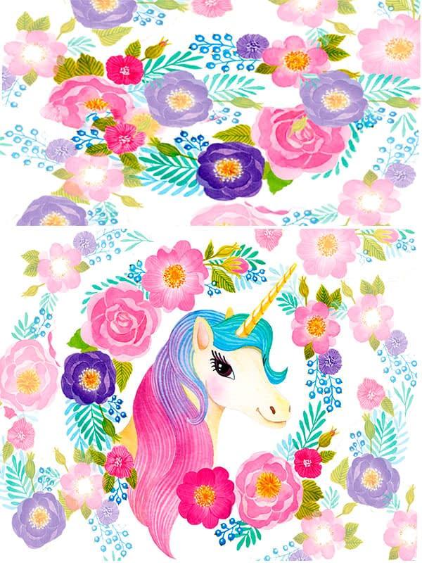 Motivo 07 Unicornio para Morrales, Loncheras y Cartucheras Oba Design - Corporación OBA, c.a.