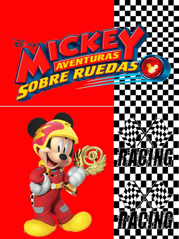 Motivo Mickey sobre ruedas 02 Oba design - Corporacion OBA, c.a.
