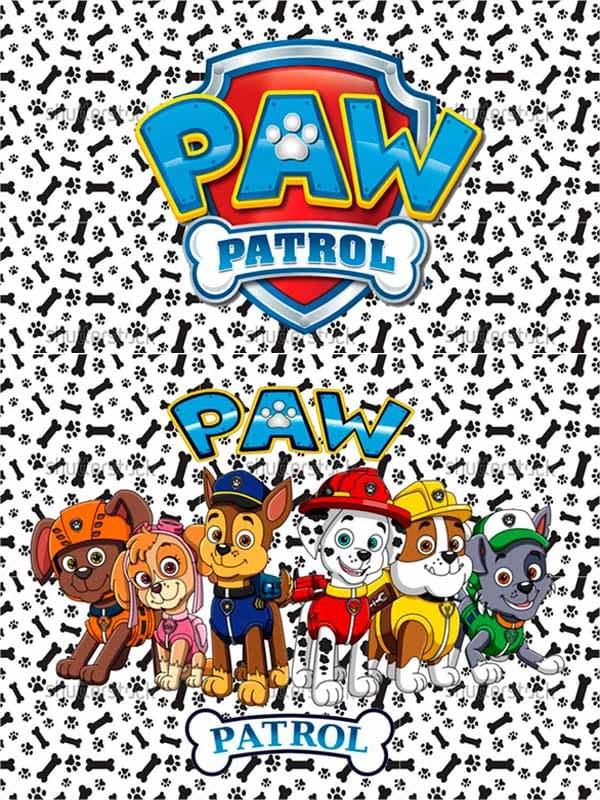 Motivo 02 Paw Patrol para Morrales, Loncheras y Cartucheras Oba Design - Corporación OBA, c.a.