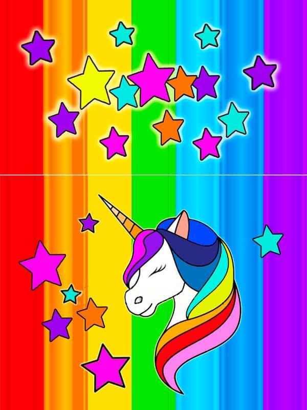 Motivo 08 Unicornio para Morrales, Loncheras y Cartucheras Oba Design - Corporación OBA, c.a.