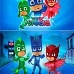 Motivo 01 Pj Mask Heroes en Pijamas para Morrales, Loncheras y Cartucheras Oba Design - Corporación OBA, c.a.