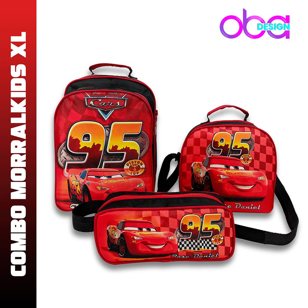 Combo Morralkids XL motivo Cars   OBA Design - Corporacion OBA, c.a.