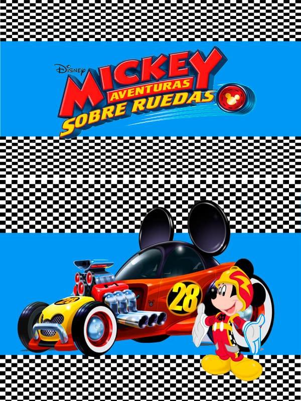Motivo Mickey sobre ruedas 01 Oba design - Corporacion OBA, c.a.