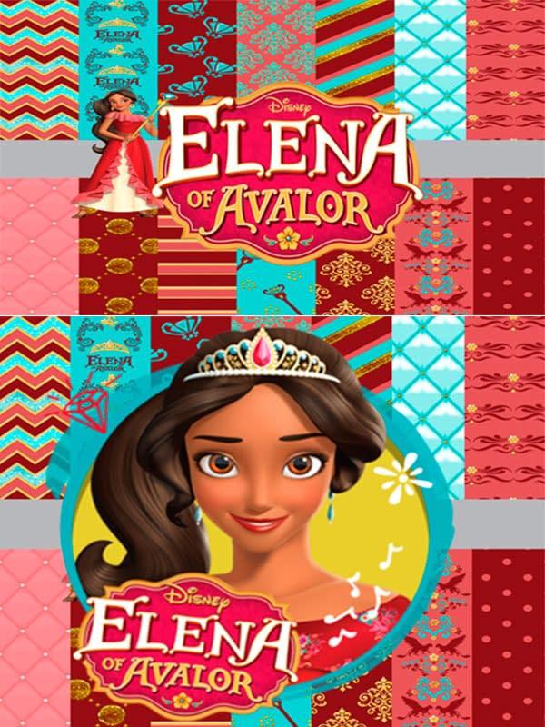 Motivo Elena de Avalor 02 Oba Design - Corporacion OBA, c.a.
