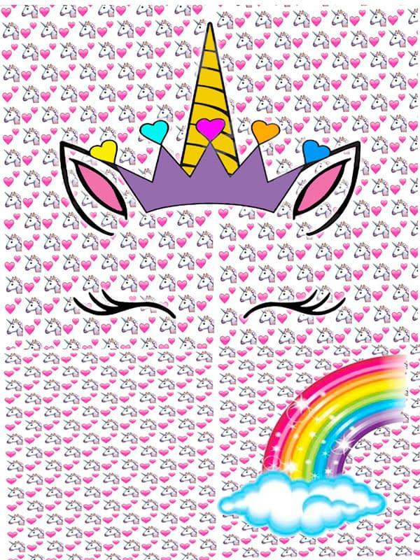 Motivo 01 Unicornio para Morrales, Loncheras y Cartucheras Oba Design - Corporación OBA, c.a.