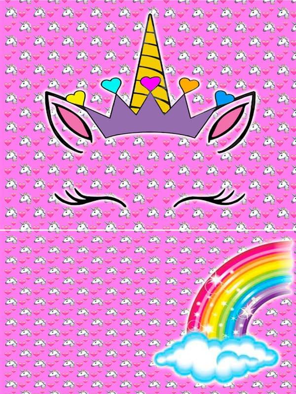 Motivo 05 Unicornio para Morrales, Loncheras y Cartucheras Oba Design - Corporación OBA, c.a.