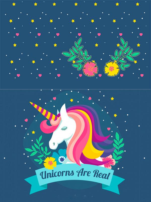 Motivo 06 Unicornio para Morrales, Loncheras y Cartucheras Oba Design - Corporación OBA, c.a.